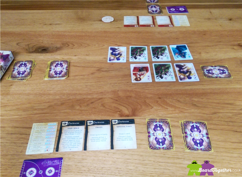 Hocus Cardgame, game in play